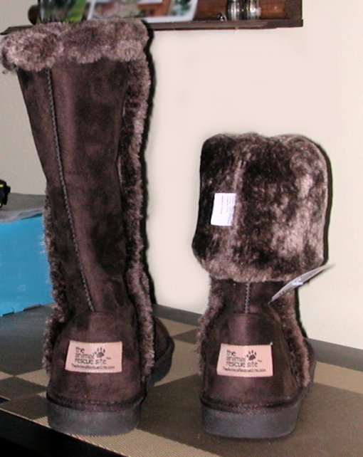 Women's winter boots, New with tags, Animal Rescue Site brand, Size 9, Chocolate