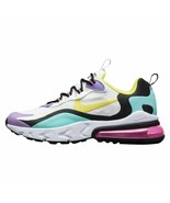 NIKE AIR MAX 270 REACT YOUTH SIZE 5.5 - 7.0 WHITE DYNAMIC YELLOW COMFORT... - $139.99