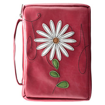 Bible Cover NEW Pink Joy Applique Flower Medium Fits 8 7/8 x 5 7/8 x 1 1/8 - $25.37