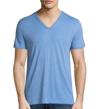 John Varvatos Star USA Men's Short Sleeve V Neck Pintuck Tee Shirt Cornf... - $44.77