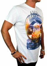 BRAND NEW DIESEL INDUSTRY LOGO MEN'S DESIGNER PREMIUM COTTON T-SHIRT TEE WHITE