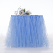 Any Color TABLE TUTU Skirt Rainbow Table Tulle Skirt Tutu Tulle Table Decoration image 12
