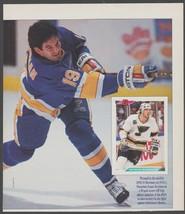 St Louis Blues Brendan Shanahan Blasting A Slap Shot 1993 Pinup Photo - $1.75