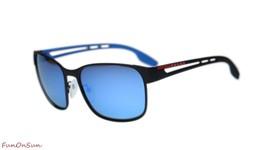 Prada Sunglasses PS52TS DG02E0 Black Rubber/Dark Grey Mirror Water Lens 59mm - $242.50