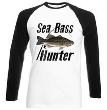 SEA BASS HUNTER - NEW COTTON BLACK SLEEVED TSHIRT - $27.99