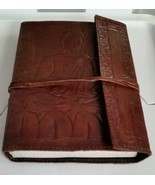"Buddah Leather Writing Journal  with leather Strap 6""x 8"" 240 pages Unlined - $32.33"