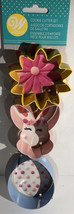 Wilton 3pc Set Metal Cookie Cutter Bunny,Flower And Egg Brand New-SHIPS ... - $5.82