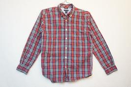 Tommy Hilfiger Midweight Cotton Button-Front Shirt, Boy's Medium (10-12)... - $9.00