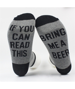 Women Men's Harajuku IF YOU CAN READ THIS BRING ME A BEER Cotton Sock - $9.03