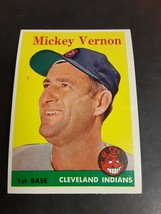 1958 Topps Baseball Card #233 Mickey Vernon - $3.91