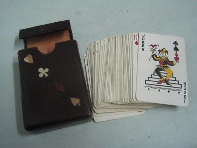 Primary image for Antique  Playing cards with a leather box