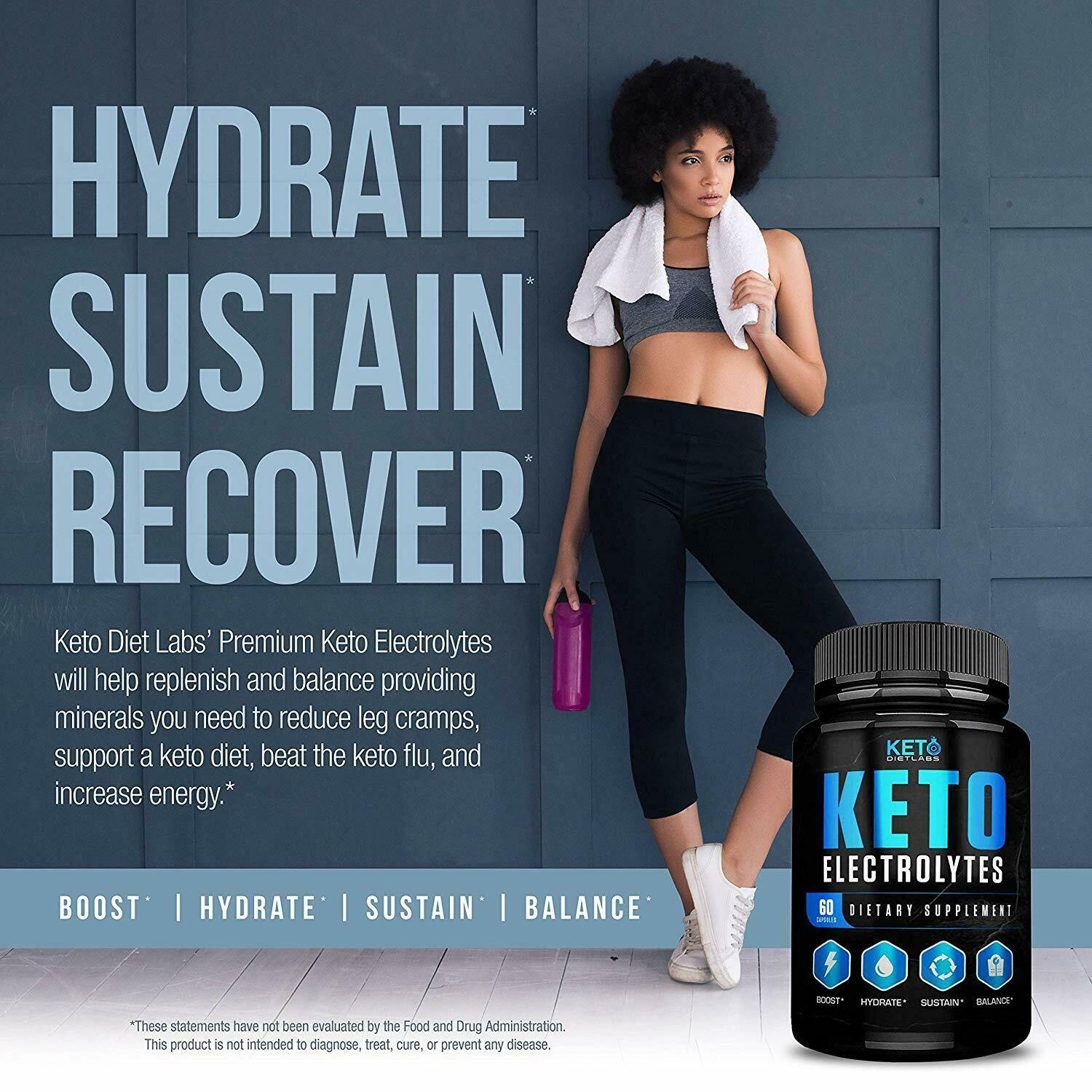 Keto Electrolyte Supplement Advanced Pills Low Carb Weight ...