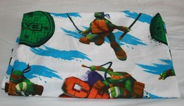 Tmnt Teenage Mutant Ninja Turtles Sheet Twin Flat Kids Fabric Material 2013 Nick - $15.45