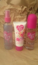 DANA LOT SHIMMERY LOTION 2 oz~ BODY SPRAY 2.5 oz~ SKIN GLOW MIST 4 oz ~ NEW - $59.99