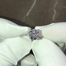 2.2 Carat D VS2 Round Pave' Design Diamond Engagement Ring, 14K White Gold Ring  - $11,500.00