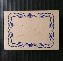 All Night Media Rubber Stamp Swirl Frame Photo Scrapbook Journal Spot  - $9.12