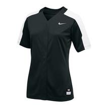 Nike Stock Vapor Pro Full Button Softball Game Jersey Women M L XL Black... - $22.27+