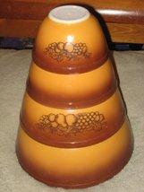 """SET OF 4 - Vintage Pyrex """" Old Orchard Brown """" 1 1/2 Pint, 1 1/2 Quart, 2 1/2 Qu - $129.99"""