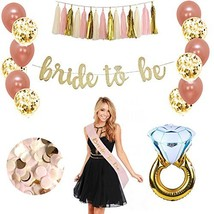 Rose Gold Bridal Shower Decorations 37 PCS bachelorette gifts Bride To B... - $29.14