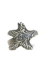 Vintage Starfish Sterling Silver Star Southwest Ring Size 8  - $29.00