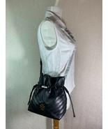NEW Tory Burch Black Kira Chevron Mini Bucket Bag $428 - $428.00