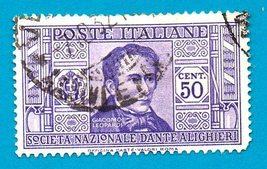 Used Italy Postage Stamp (1932) 50c Dante Alighieri Society - Scott #273  - $1.99