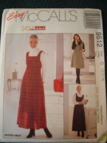 Primary image for MISSES JUMPER IN TWO LENGTHS SIZE 12-14-16 - SEW NEWS SERIES - EASY MCCALLS SEWI