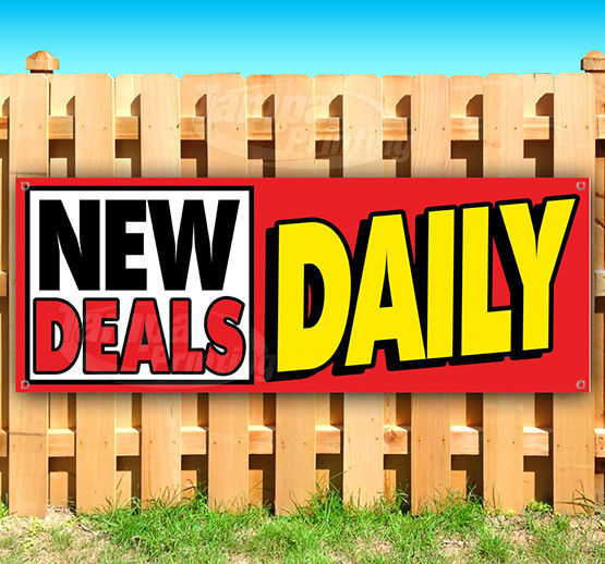 NEW DEALS DAILY Advertising Vinyl Banner Flag Sign Many Sizes USA