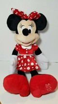 Disney 2016 Minnie Mouse Plush Polka Dot Dress Red Shoes 20 inches tall - $19.75