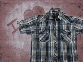 Men's Vintage Dickies Plaid Shirt Western Cowboy Button Large Pearl Snap... - €11,82 EUR