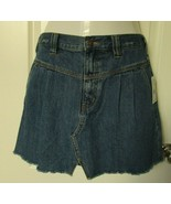 Free People Denim Mini Skirt Size 31 Saratoga Blue in color 100% Cotton - $29.65