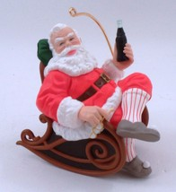 1997 Coca Cola Santa Claus Relaxing Rocking Chair w/ Slippers Christmas ... - $11.53