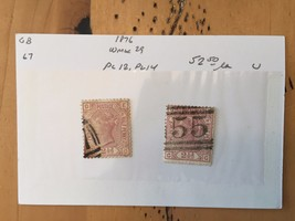G39 Great Britain Stamps Two Pence Half Penny 1876 Old Postage Queen Vic... - $11.63
