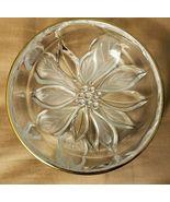 Studio Nova Glass Round Tray Guilded Poinsettia Decorative Candy Dish - $3.29