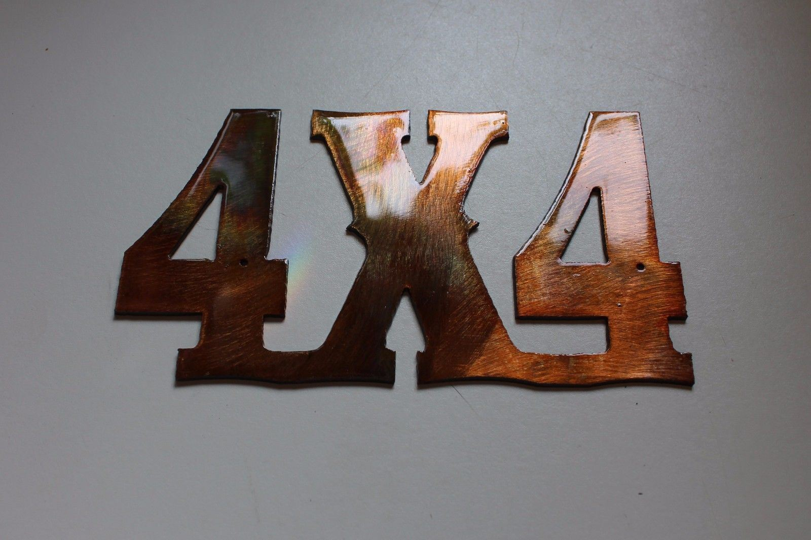 4x4 Sign Copper/Bronze Plated Metal Wall Decor