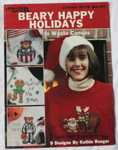Ugly Christmas Sweater Cross Stitch Pattern Beary Happy Holidays  9 designs - $7.91