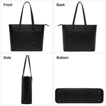 15.6 Inch Briefcase for Women, Laptop Tote Bag Bottom with 4 Metal Feet, Multi F image 4