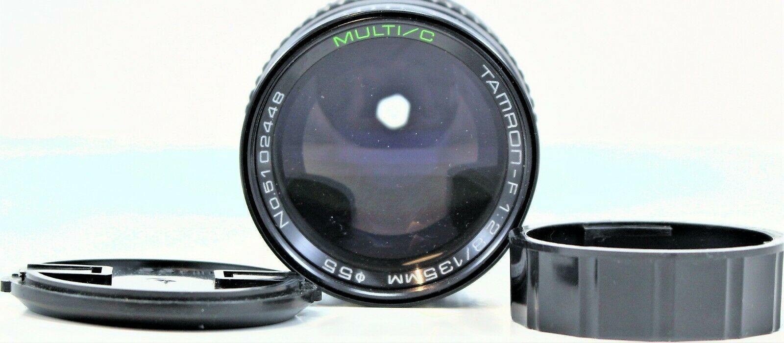 Tamron Multi C F 1:2.8 135mm Camera Lens for Nikon AI With Soft Case image 2