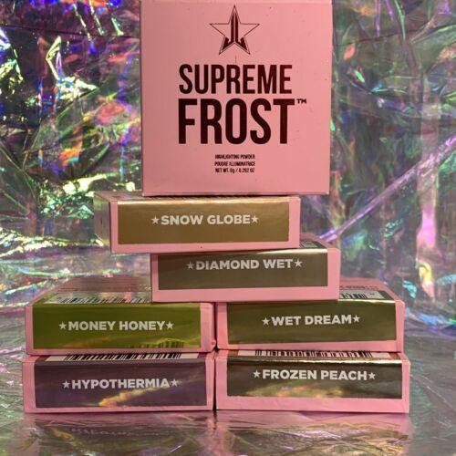 SIX NEW IN BOX Jeffree Star Cosmetics SUPREME FROST DIAMOND WET Dream Snow Globe