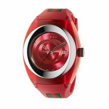 Gucci YA137103 Red Dial Rubber Strap Unisex watch - $381.11