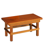 Dollhouse Flat Top Kitchen Work Table 1.751/0 Reutter Darker Wood Miniature - $12.75