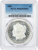 1883 $1 PCGS MS64 DMPL - $572.30