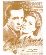 Casablanca Humphrey Bogart WB Vintage 11X14 Sepia Movie Promo Memorabili... - $9.95