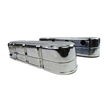 Chevy SB GM LS Smooth Cast Aluminum Valve Covers V8 293 325 376 427 Polished image 2