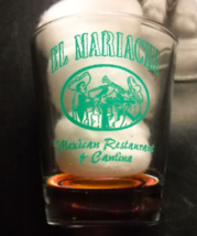 El Mariachi Mexican Restaurant and Cantina Shot Glass Clear Glass with G... - €6,00 EUR