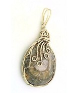 Horn Coral Nickel Silver Wire Wrap Pendant 36 - $27.90