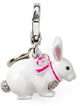 Juicy Couture Charm LTD 2012 Snow Bunny Silvertone NEW - $51.48