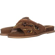 Stuart Weitzman Nomedeplume Embellished Sandals 918, Saddle, 8 US - $148.79