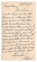 UX5 Postal Card 1881 Allegheny PA Fancy Negative A Cancel DPO Garfield Death image 2