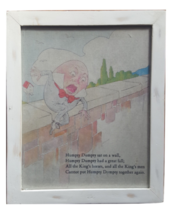 "Pottery Barn Collectible  ""Humpty Dumpty"" Nursery Rhyme Picture - $25.69"